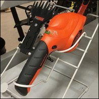Hedge Trimmer Stand Extra Blades Feature