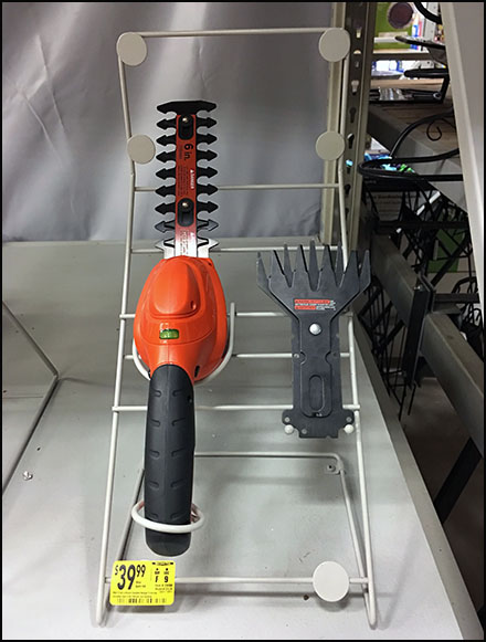 Bi-Directional Hedge Trimmer Display Stand