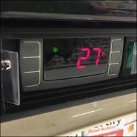 Inline Gondola Shelf-Top Cooler Display Detail