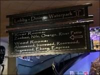 Kalahari Convention Center Navigation Sign