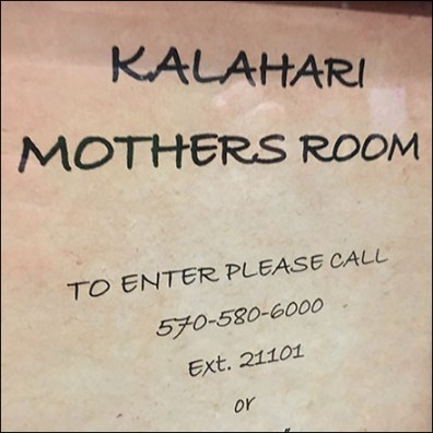 Kalahari Resort Mothers Room Amenity