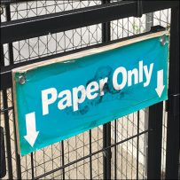 Canopied Paper Recycling Compound Outdoors
