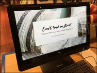Can't-Find-In-Store Online Search Terminal