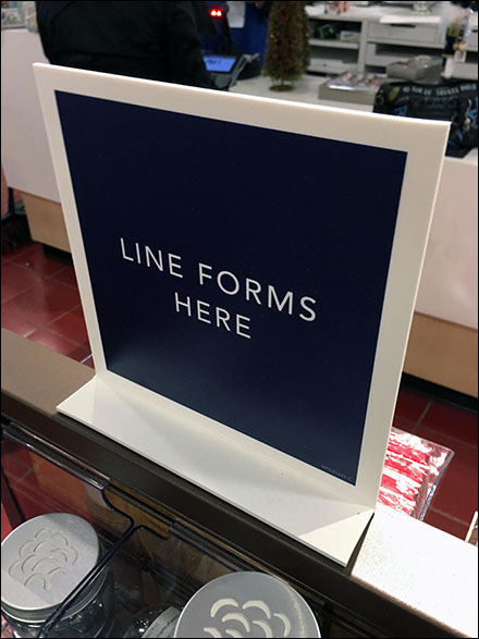 Checkout Line-Forms-Here Magnetic Sign