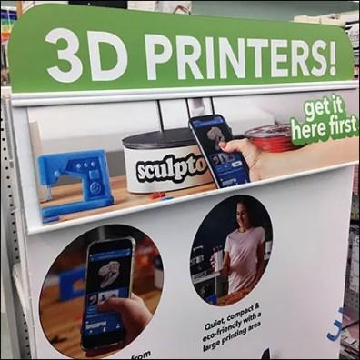 Hobbyist Sculpto 3D-Printer Merchandising