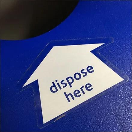 Vitamin-Shoppe Sample Waste Disposal Chute