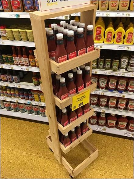 Pittston Tomato-Ketchup Wood Display Tower