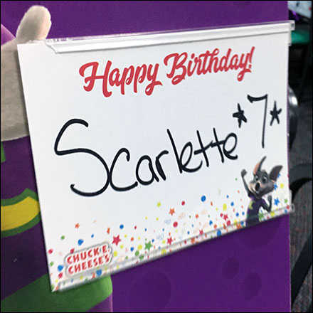 Chuck E Cheese Birthday Party Personalization Table-Top C-Channel Feature