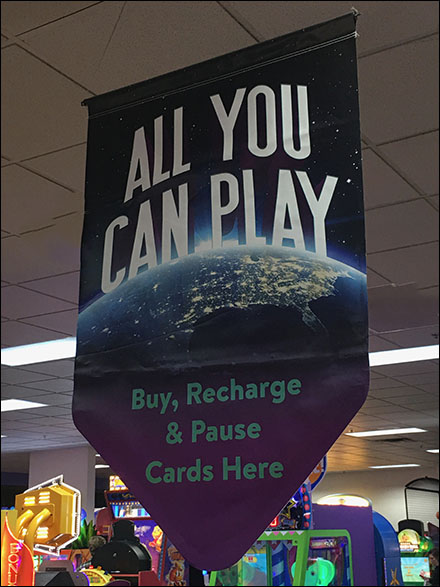Chuck E Cheese All-You-Can-Play Directional Banner