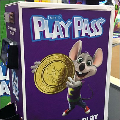 Chuck E Cheese Token Machine