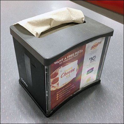 Chuck E Cheese Free Pizza Napkin Holder