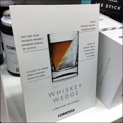 Cockcicle Whiskey Wedge Counter-Top Sign Promotion Feature