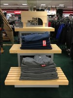 North-Face Ribbed-Wood Tiered Display