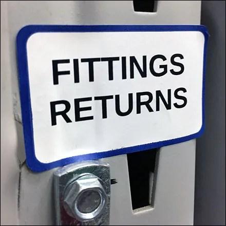 Fittings Returns Pallet-Rack J-Hook Feature