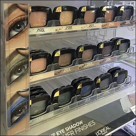 L'Oreal Eye-Shadow Merchandising System