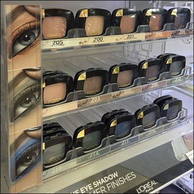 L'Oreal Eye-Shadow Merchandising System
