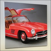 Mercedes Benz 1955 Red Gullwing Poster