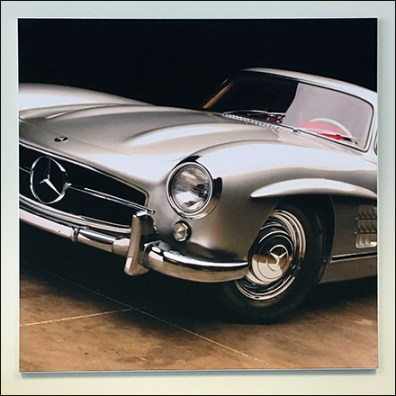 Mercedes Benz Classic Silver Roadster Poster