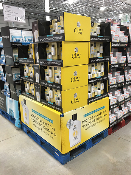 Olay Look-Twice-As-Young Pallet Display