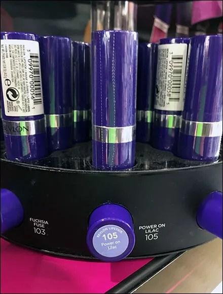 Revlon Electric-Shock Lipstick Turntable Details