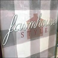 Farmhouse Style Merchandising Island