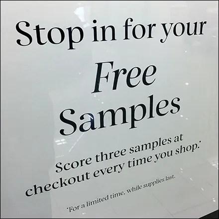 Three-Free-Samples Framed Invitation