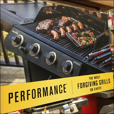 Char-Broil Performance Grill Signpost