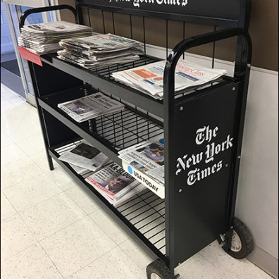 Market-32 New-York-Times Newsstand Cart