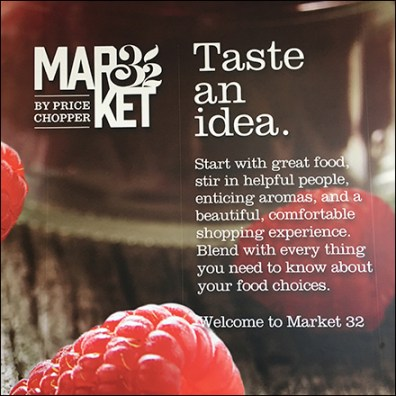 Market 32 Taste-An-Idea Store Welcome