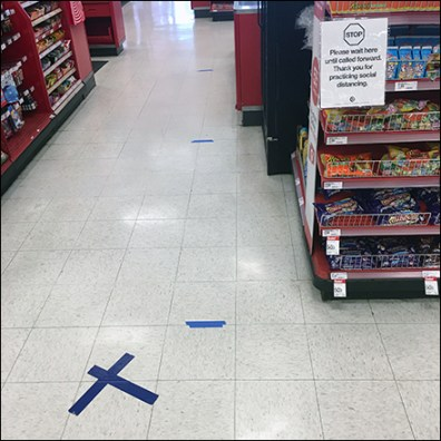 Target CoronaVirus Checkout Distance Floor-Graphics Square1
