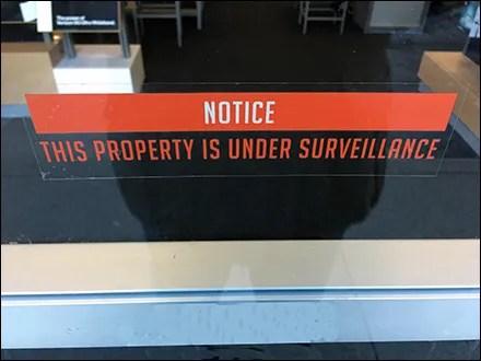 Property Under Surveillance Warning
