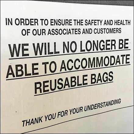 CoronaVirus Reusable Shopping-Bag Ban