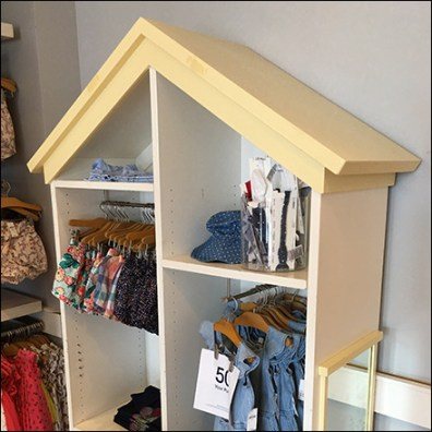 Gable Roof Clothes Rack In-Store