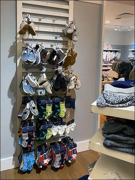 Custom-Slatted Slatwall Shoe Display