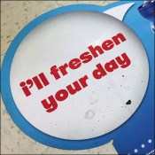 Mentos Freshen-Your-Day Floor Graphic