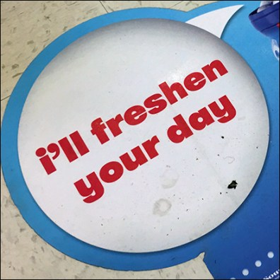 Mentos Freshen-Your-Day Floor Graphic