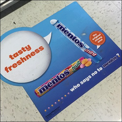 Mentos Tasty Freshness Floor Graphic