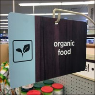 Organic Food Straight-Entry Sign-Arm