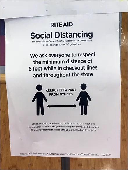 CoronaVirus Social Distancing Instructions