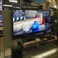 Samsung Big-Screen Television Display Halo
