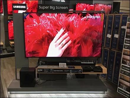 Samsung Big-Screen Television Display Halo
