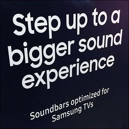 Samsung Television Theater Sound Display
