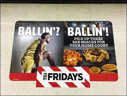 TGI Fridays Home-Court-Advantage Floor Graphic
