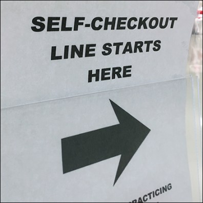 CoronaVirus Self-Checkout Line Directional