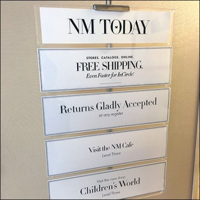 Today at Neiman Marcus Welcome Feature
