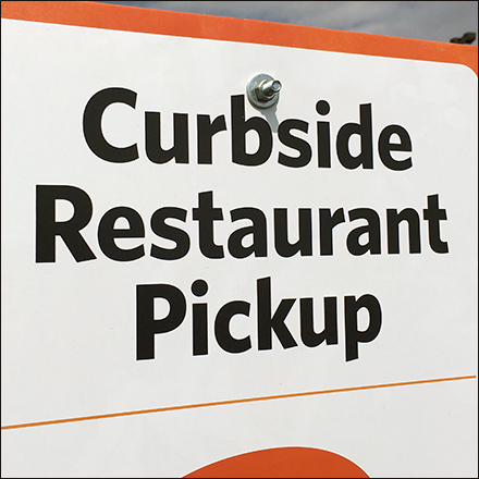 CoronaVirus Curbside Restaurant Pickup via Text