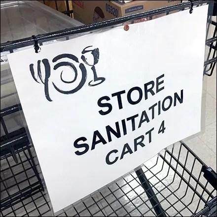 CoronaVirus Store Sanitation Cart #4