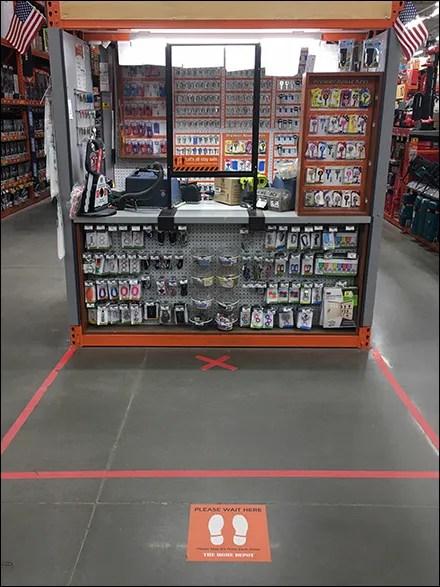 CoronaVirus Please-Wait-Here Floor Graphic