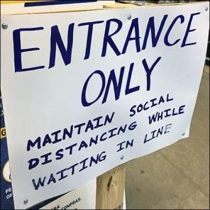 CoronaVirus Entrance-Only Social Distancing Notice