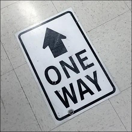CoronoVirus One-Way Traffic Floor Graphic